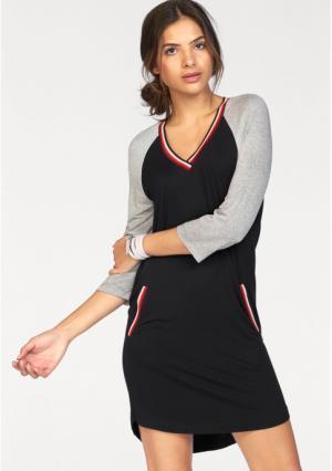 Платье AJC. Цвет: черный в полоску