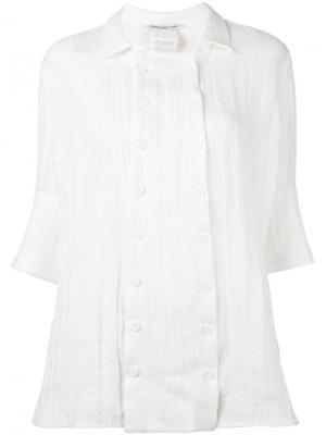 Двубортная рубашка на пуговицах Cherevichkiotvichki. Цвет: белый