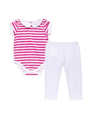 Комплект одежды NinoMio. Цвет: фуксия, белый