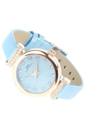 Часы на ремне IBSO. Цвет: голубой