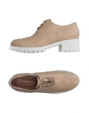 Обувь на шнурках LORENZO MARI. Цвет: песочный