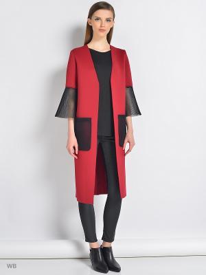 Пальто Colambetta. Цвет: бордовый, черный