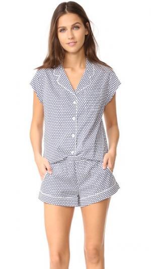 Пижама Olivia Three J NYC. Цвет: темно-синий белые горошины в небольшой