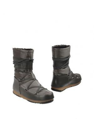 Полусапоги и высокие ботинки MOON BOOT. Цвет: стальной серый