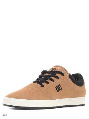 Кеды DC Shoes. Цвет: бежевый, белый