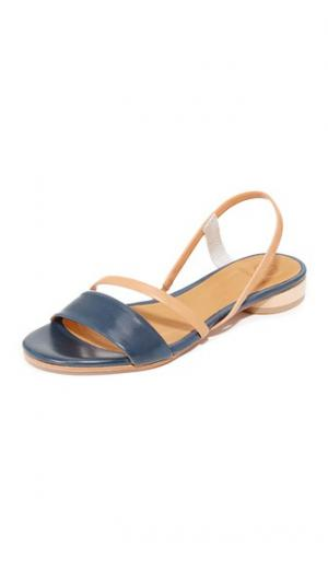 Сандалии Choka Coclico Shoes. Цвет: натуральный голубой/розовато-коричневый/серебристый