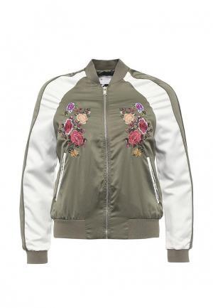 Куртка Piazza Italia. Цвет: зеленый