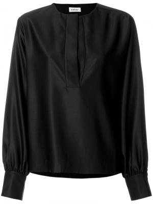 Henley blouse Toteme. Цвет: чёрный