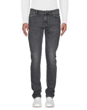 Джинсовые брюки RING. Цвет: серый