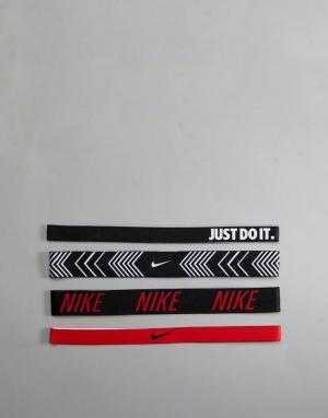 Nike Training 4 повязки на голову с принтом. Цвет: мульти