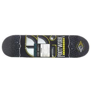 Дека для скейтборда  Progress Cracked Black 31.6 x 8 (20.3 см) Footwork. Цвет: серый,черный,белый