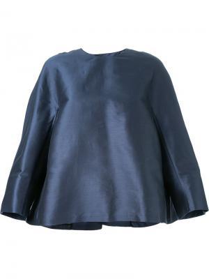 Топ Couture с разрезом на спине Yang Li. Цвет: синий