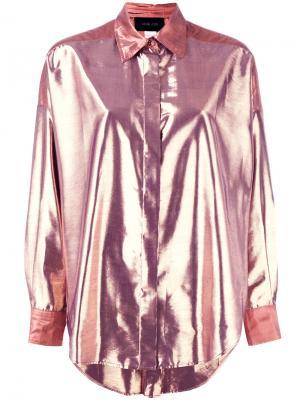 Рубашка с блестящей отделкой Michel Klein. Цвет: розовый и фиолетовый