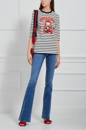 Расклешенные джинсы MiH jeans. Цвет: голубой