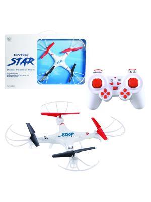 Квадрокоптер GYRO-Star 2,4GHz 4 канала диаметр 25см, headless режим 1Toy. Цвет: белый