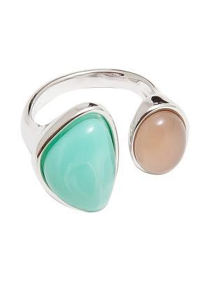 Кольцо Kameo-bis. Цвет: зеленый, серебристый, бежевый