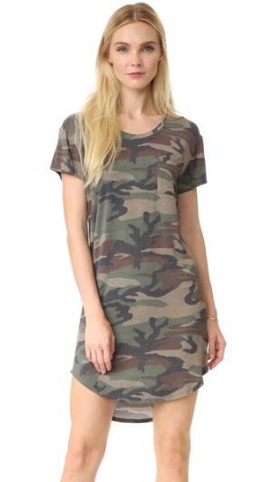 Платье-футболка Haute Hippie. Цвет: камуфляж