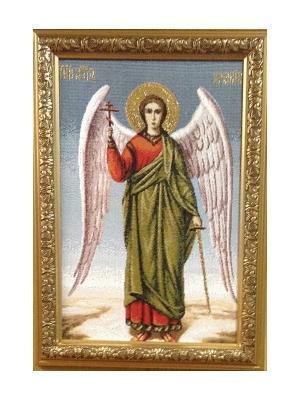 Картина Икона АНГЕЛ ХРАНИТЕЛЬ Рапира. Цвет: золотистый, голубой, зеленый, красный