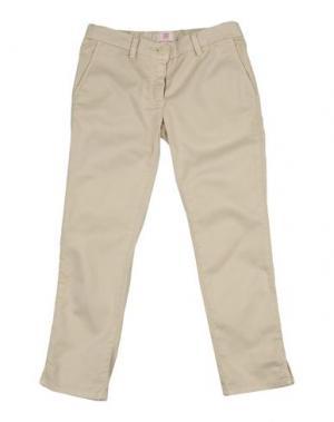 Джинсовые брюки MAURO GRIFONI KIDS. Цвет: бежевый
