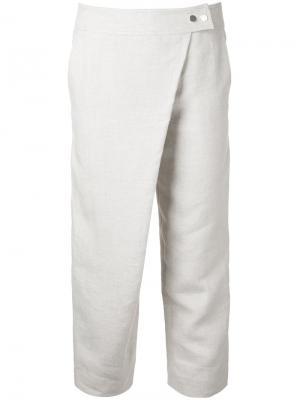 Укороченные брюки Prusso Nehera. Цвет: телесный