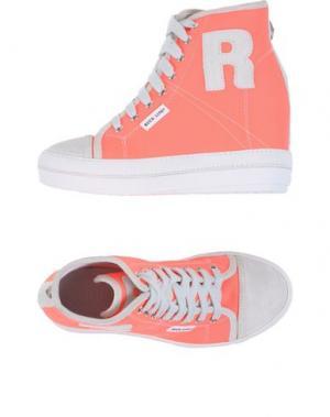 Высокие кеды и кроссовки RUCO LINE. Цвет: коралловый
