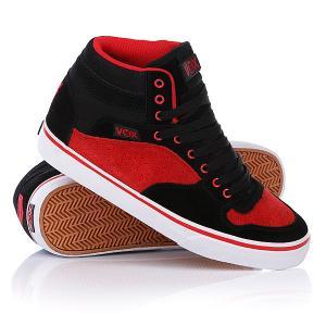 Кеды кроссовки высокие Vox Accent Black/Red. Цвет: красный,черный
