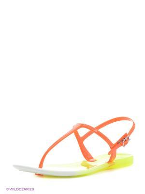 Сандалии Mon Ami. Цвет: оранжевый