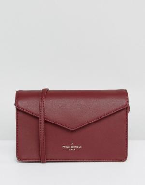 Pauls Boutique Темно-красная структурированная сумка через плечо. Цвет: красный