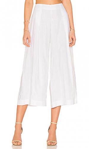 Прозрачные брюки в полоску KENDALL + KYLIE. Цвет: белый