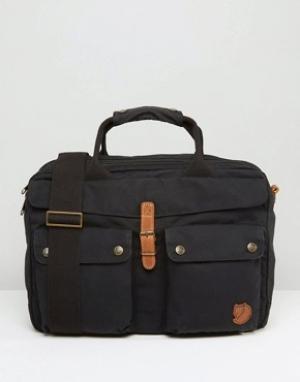 Fjallraven Черная сумка для ноутбука объемом 14 литров Greenland. Цвет: черный