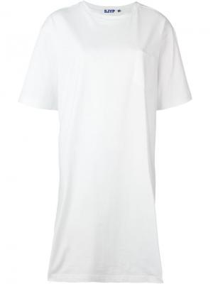 Свободная футболка с принтом логотипа Steve J & Yoni P. Цвет: белый