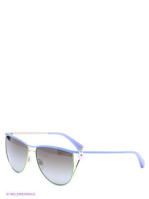 Очки солнцезащитные Emporio Armani. Цвет: голубой, зеленый