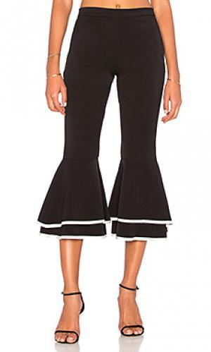 Расклешенные ярусные брюки supafly Backstage. Цвет: черный