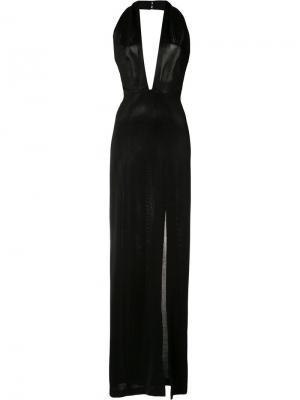 Платье с вырезом-халтер Galvan. Цвет: чёрный