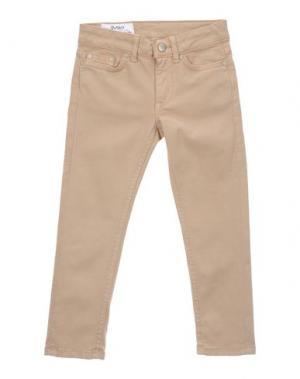 Джинсовые брюки DONDUP DQUEEN. Цвет: песочный