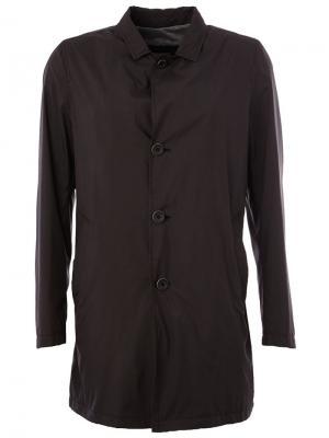 Однобортная куртка Herno. Цвет: чёрный