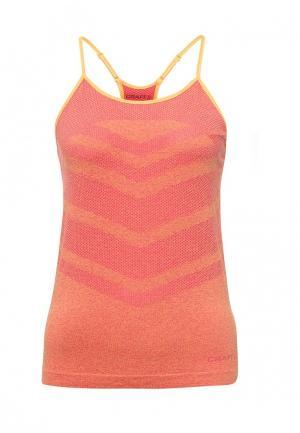 Майка спортивная Craft. Цвет: оранжевый