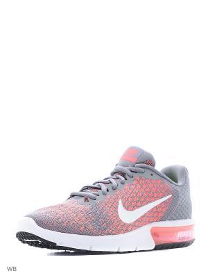 Кроссовки WMNS NIKE AIR MAX SEQUENT 2. Цвет: серый, розовый