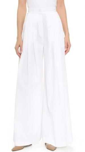 Широкие брюки со складками Vika Gazinskaya. Цвет: белый