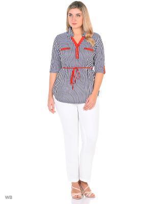 Блузка, модель Жанна. Dorothy's Нome. Цвет: синий, белый, красный