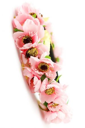 Ободок с цветами FRANSUA ARDY. Цвет: розовый