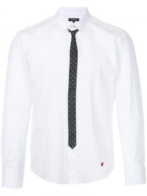 Рубашка с принтом галстука Loveless. Цвет: белый