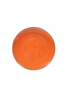 Тарелка десертная Куркума Elff Ceramics. Цвет: оранжевый, черный
