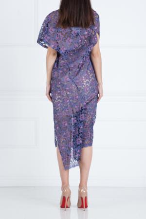 Платье-миди Junya Watanabe. Цвет: фиолетовый