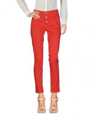 Повседневные брюки DIXIE. Цвет: красный