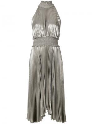 Плиссированное платье A.L.C.. Цвет: серый