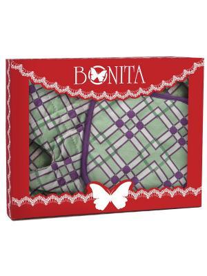 Комплект BONITA. Цвет: светло-зеленый, темно-фиолетовый, белый