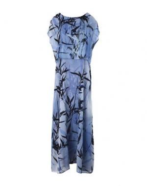 Платье длиной 3/4 MARTA PALMIERI. Цвет: синий