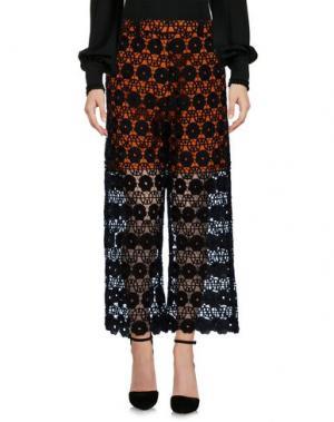 Повседневные брюки SELF-PORTRAIT. Цвет: оранжевый