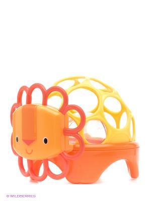 Погремушка Зоопарк. Лев Oball. Цвет: оранжевый